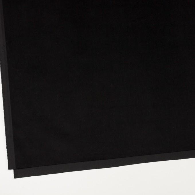 コットン&ポリウレタン×無地(ブラック)×ベッチンストレッチ_全2色 イメージ2