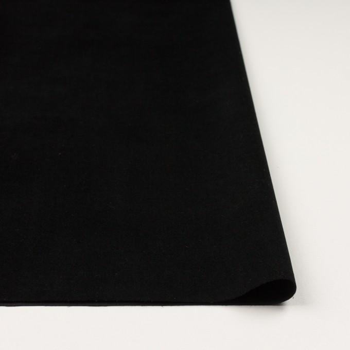 コットン&ポリウレタン×無地(ブラック)×ベッチンストレッチ_全2色 イメージ3