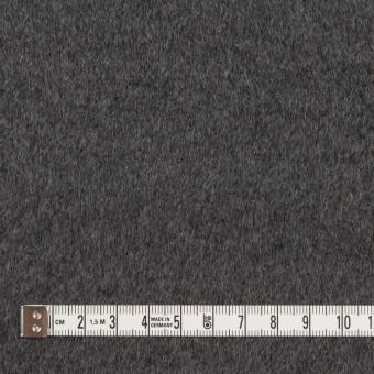 アンゴラ&ウール×無地(チャコールグレー)×ビーバー サムネイル4