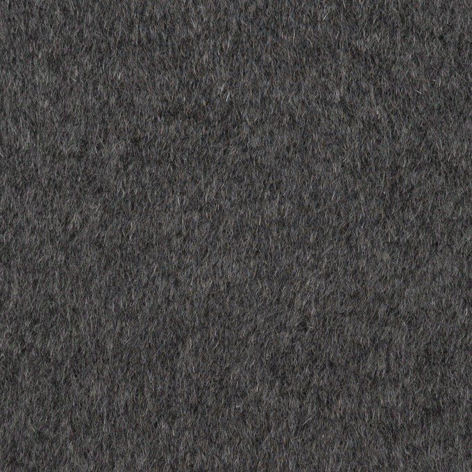 アンゴラ&ウール×無地(チャコールグレー)×ビーバー イメージ1