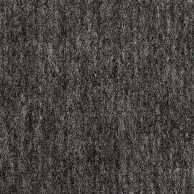 ウール&ナイロン×無地(チャコールグレー)×ツイード イメージ1