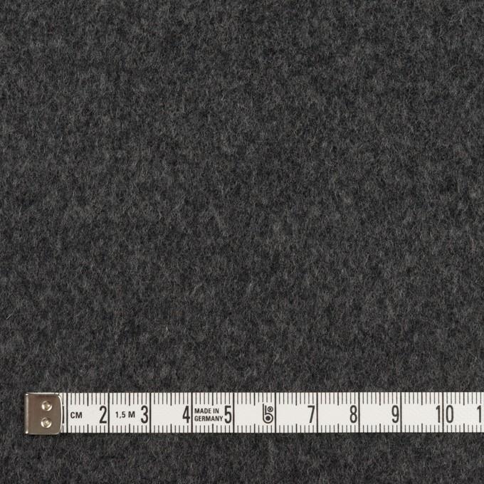 ウール×無地(チャコールグレー)×ソフトメルトン イメージ4