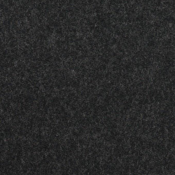 ウール&ポリウレタン×無地(チャコール)×サージストレッチ イメージ1