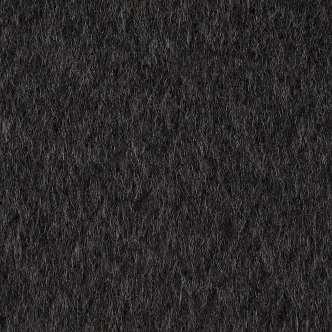 ウール×無地(チャコール)×ビーバー イメージ1