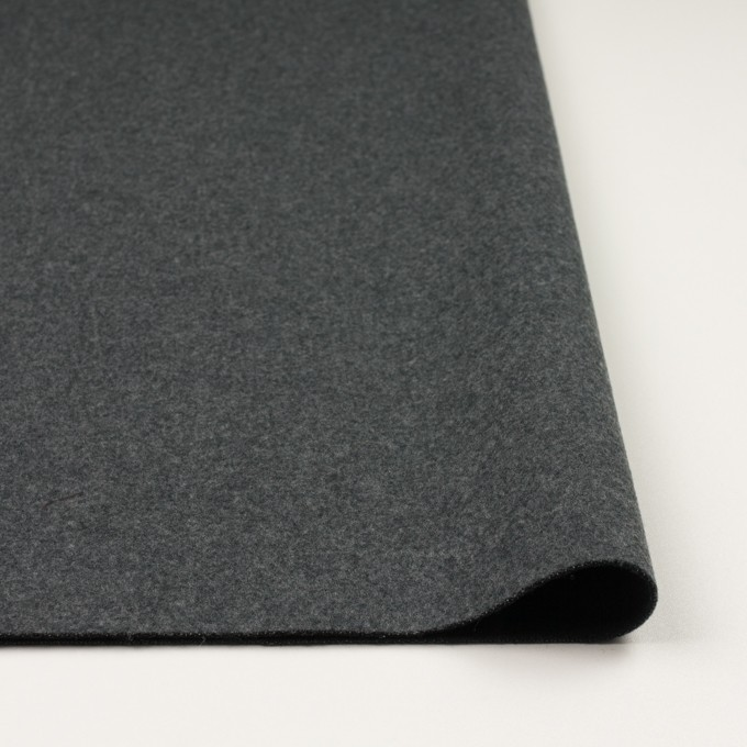 ウール×無地(チャコールグレー&ブラック)×Wフェイスフラノ(フランネル) イメージ3