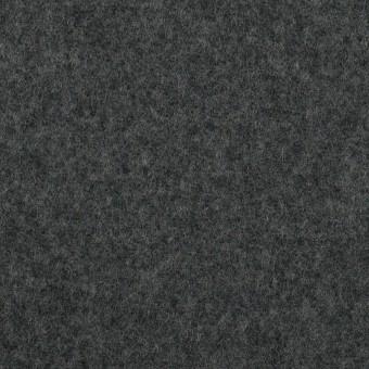 ウール×無地(チャコールグレー&ブラック)×Wフェイスフラノ(フランネル)