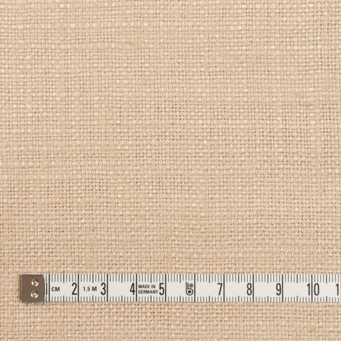 リネン&シルク×無地(ベージュ)×ソフトキャンバス_全2色 イメージ4