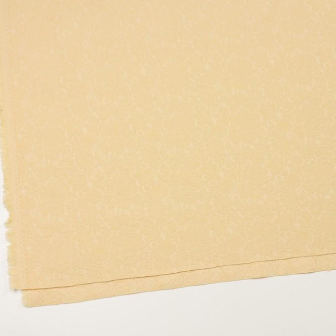 コットン&ポリウレタン×フラワー(カスタード)×ジャガード・ストレッチ イメージ2
