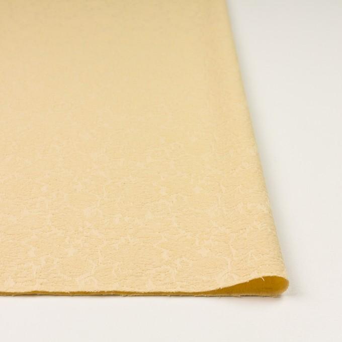 コットン&ポリウレタン×フラワー(カスタード)×ジャガード・ストレッチ イメージ3