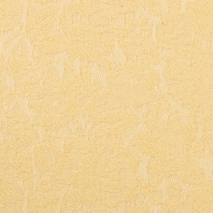 コットン&ポリウレタン×フラワー(カスタード)×ジャガード・ストレッチ イメージ1