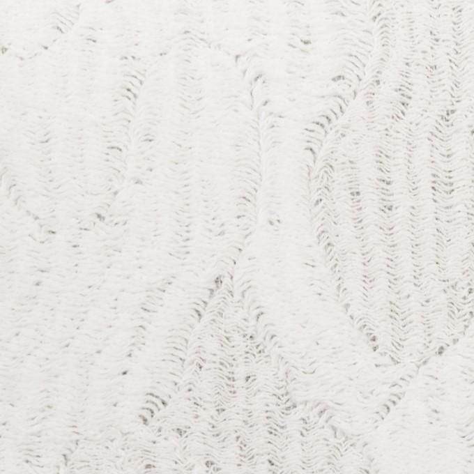 コットン&ナイロン×幾何学模様(ホワイト)×ジャガードニット_全2色 イメージ1