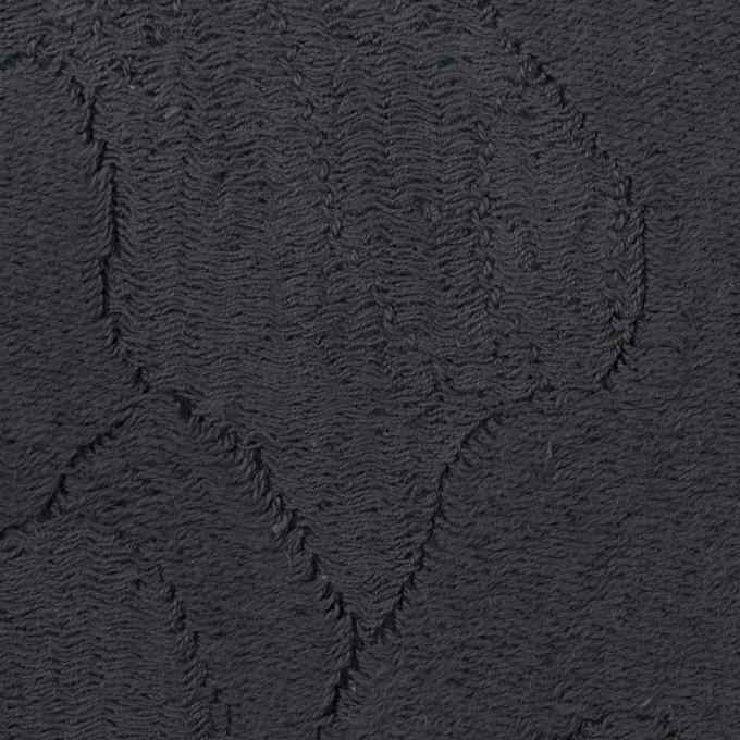 コットン&ナイロン×幾何学模様(チャコール)×ジャガードニット_全2色 イメージ1