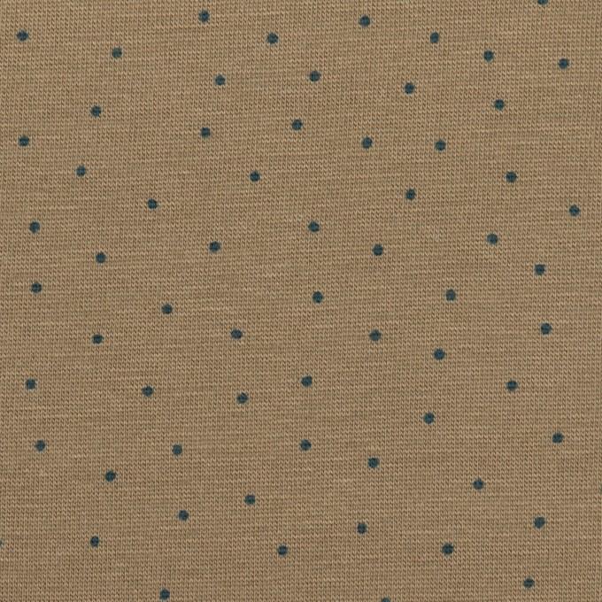 コットン×ドット(カーキ&アッシュブルー)×天竺ニット_全3色 イメージ1