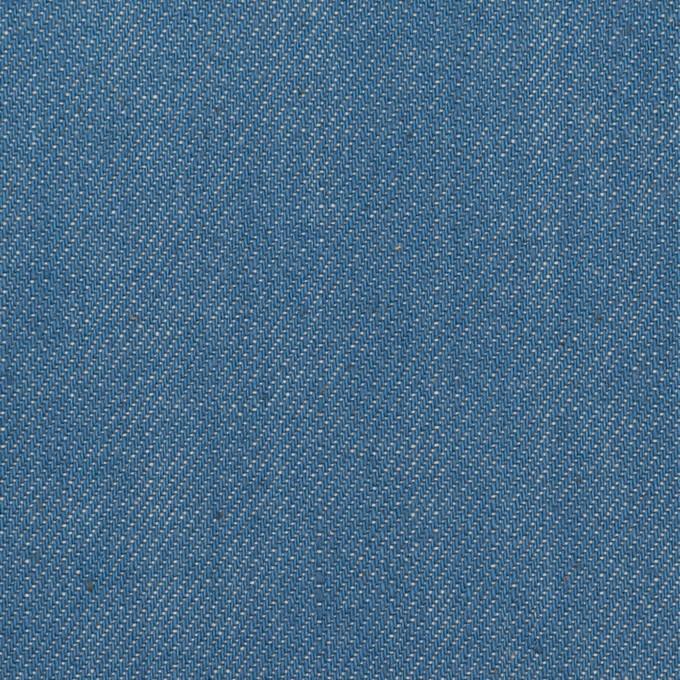コットン&ポリウレタン×無地(サックスブルー)×デニムストレッチ(10.5oz) イメージ1
