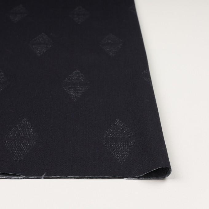 コットン&ポリエステル混×無地(インディゴ)×デニムジャガード・ストレッチ(9.5oz) イメージ3