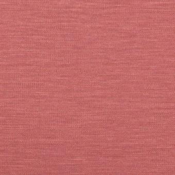 レーヨン&コットン混×無地(コーラルレッド)×スムースニット_全6色