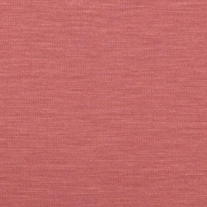 レーヨン&コットン混×無地(コーラルレッド)×スムースニット_全6色 イメージ1