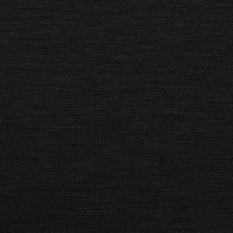 レーヨン&コットン混×無地(ブラック)×スムースニット_全6色 サムネイル1