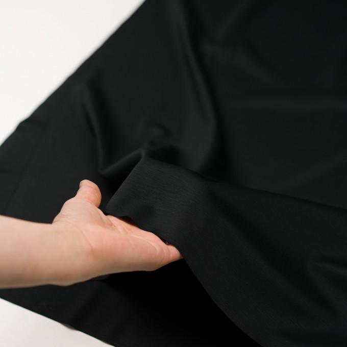 レーヨン&コットン混×無地(ブラック)×スムースニット_全6色 イメージ5