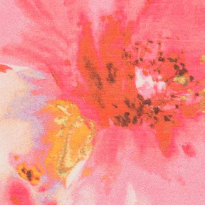 ポリエステル×フラワー(チェリー)×ソフトオーガンジー_全4色 イメージ1