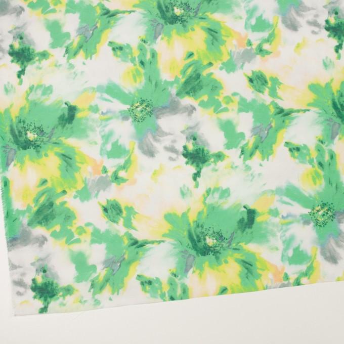 ポリエステル×フラワー(グリーン)×ソフトオーガンジー_全4色 イメージ2