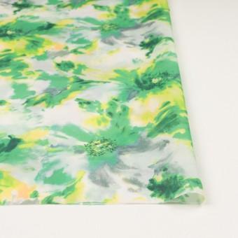 ポリエステル×フラワー(グリーン)×ソフトオーガンジー_全4色 サムネイル3
