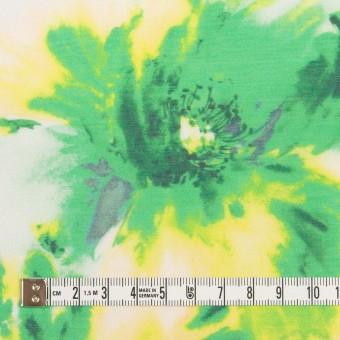 ポリエステル×フラワー(グリーン)×ソフトオーガンジー_全4色 サムネイル4
