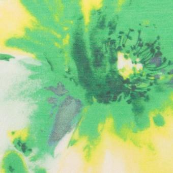 ポリエステル×フラワー(グリーン)×ソフトオーガンジー_全4色