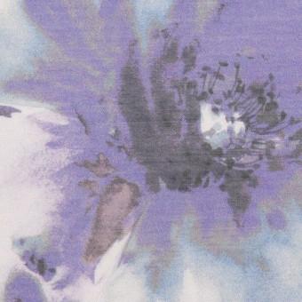 ポリエステル×フラワー(パープル)×ソフトオーガンジー_全4色