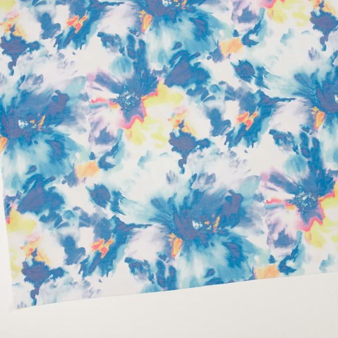 ポリエステル×フラワー(ブルー)×ソフトオーガンジー_全4色 イメージ2