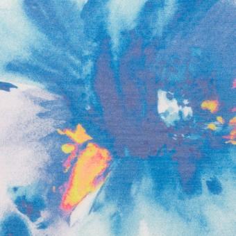 ポリエステル×フラワー(ブルー)×ソフトオーガンジー_全4色