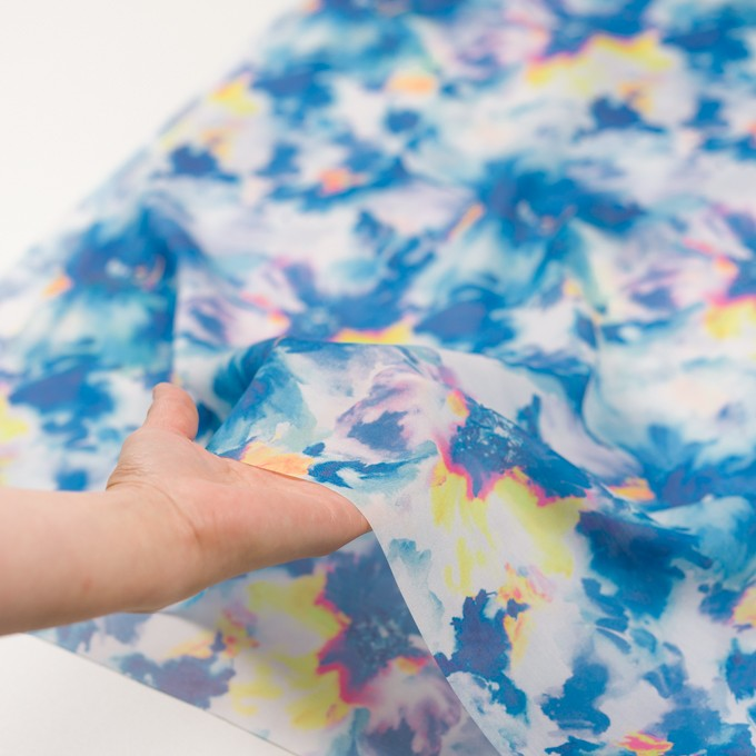 ポリエステル×フラワー(ブルー)×ソフトオーガンジー_全4色 イメージ5