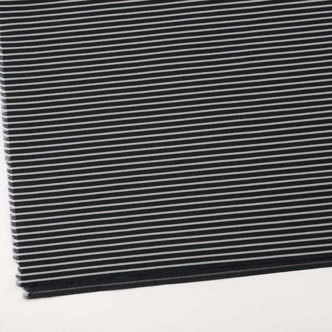 コットン&ポリエステル×ボーダー(ダークネイビー)×ブロードジャガード イメージ2