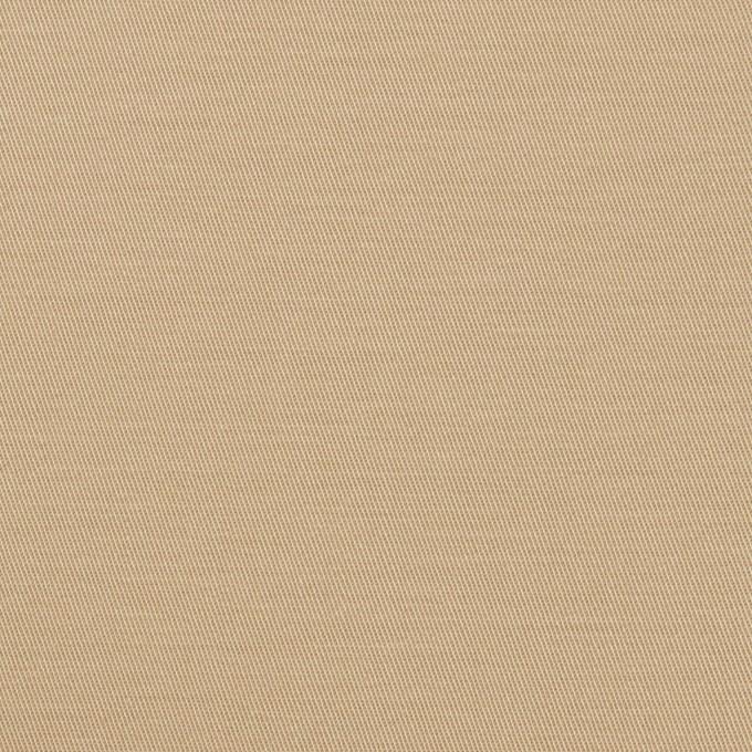 コットン&ポリウレタン×無地(ベージュ)×サージストレッチ イメージ1
