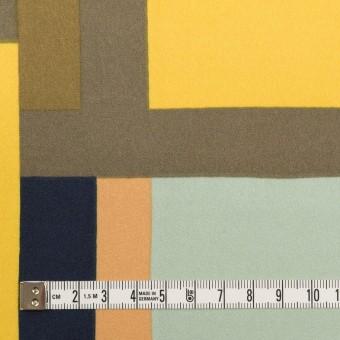 ポリエステル×幾何学模様(ピーチ&ペパーミント)×サテン_全2色_パネル サムネイル4