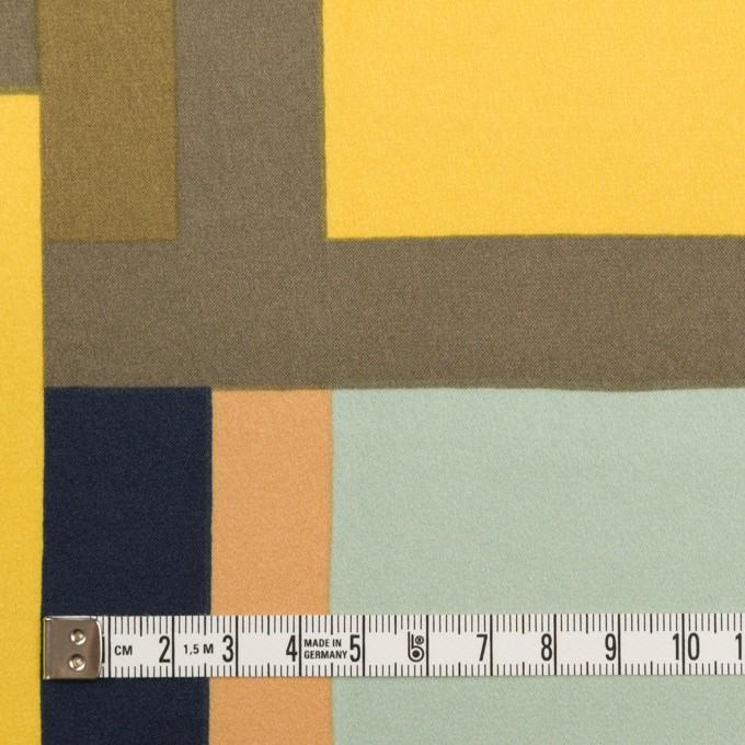ポリエステル×幾何学模様(ピーチ&ペパーミント)×サテン_全2色_パネル イメージ4