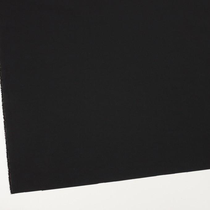 ナイロン&ポリウレタン×無地(ブラック)×ファイユストレッチ_全3色 イメージ2