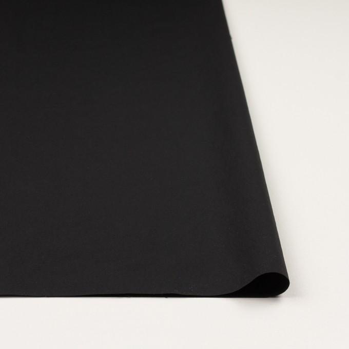 ナイロン&ポリウレタン×無地(ブラック)×ファイユストレッチ_全3色 イメージ3
