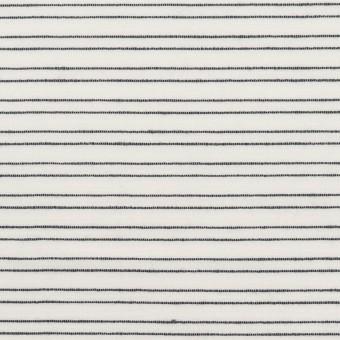 コットン&シルク混×ボーダー(オフホワイト&ダークネイビー)×オーガンジー・ジャガード