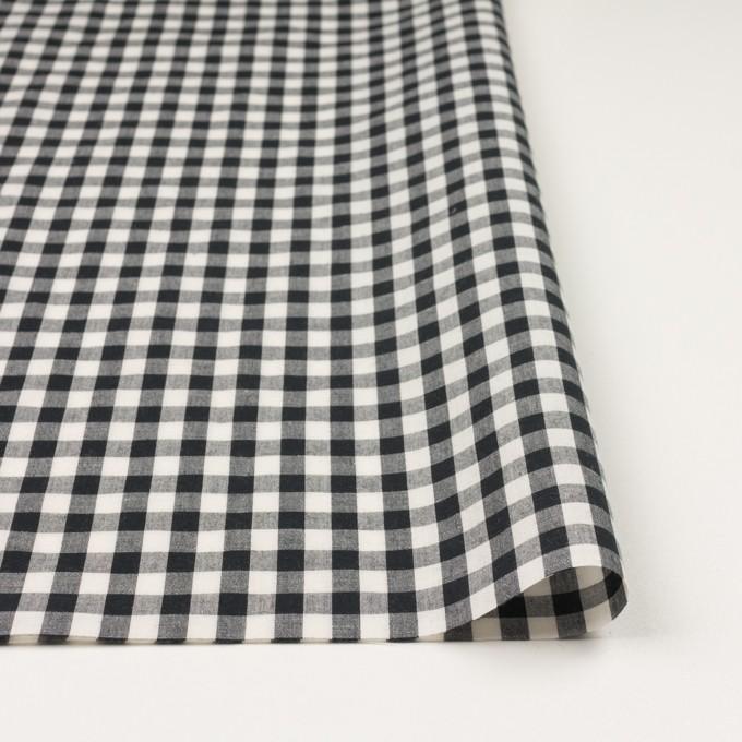 コットン&リネン×チェック(アイボリー&ブラック)×ボイル イメージ3