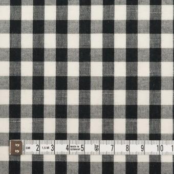 コットン&リネン×チェック(アイボリー&ブラック)×ボイル サムネイル4