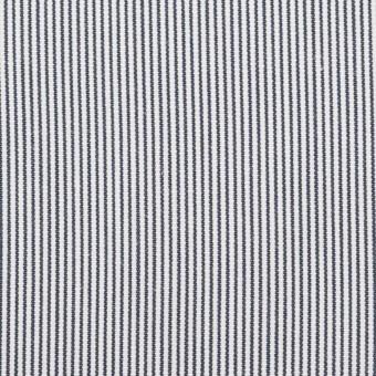 コットン×ストライプ(ホワイト&ブルー)×コードレーン_全2色
