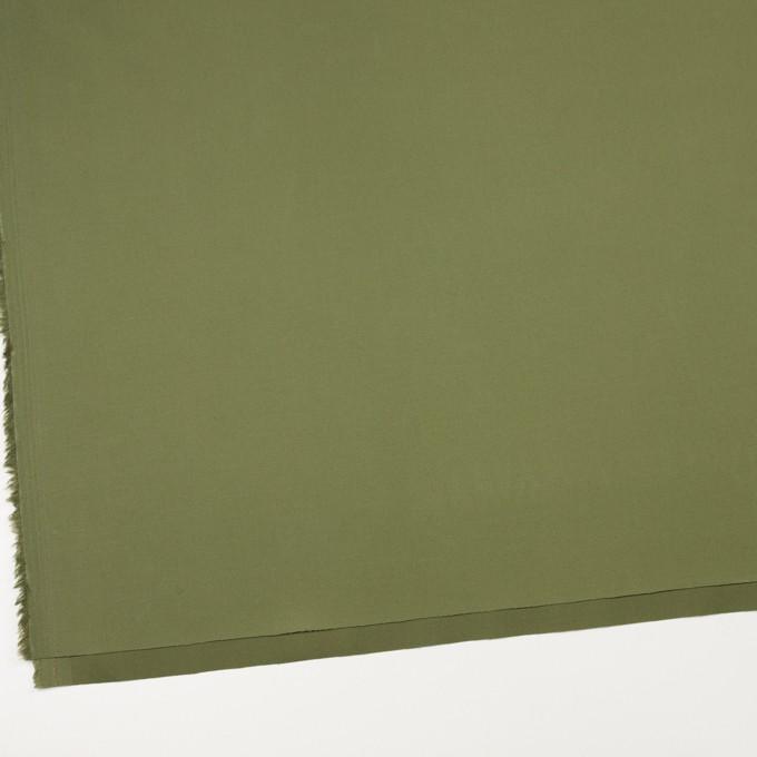 コットン&ポリウレタン×無地(フォレストグリーン)×サージストレッチ イメージ2