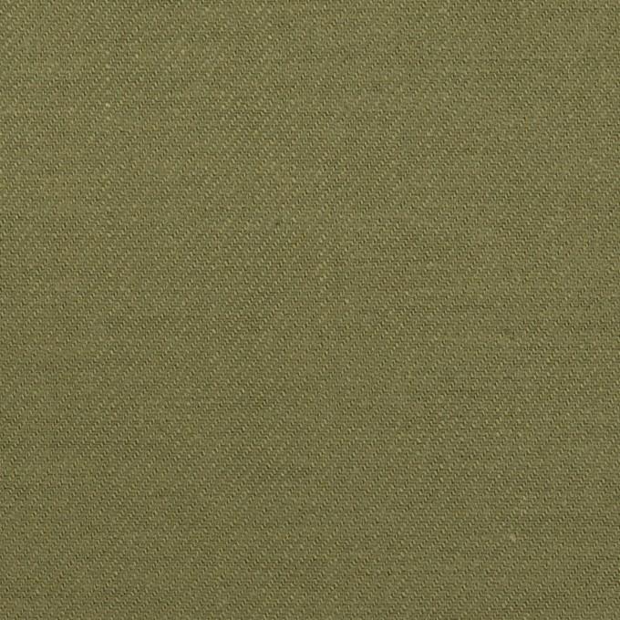 コットン×無地(カーキグリーン)×カツラギ イメージ1