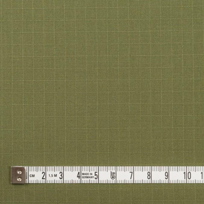 コットン&リネン×無地(カーキグリーン)×リップストップ イメージ4