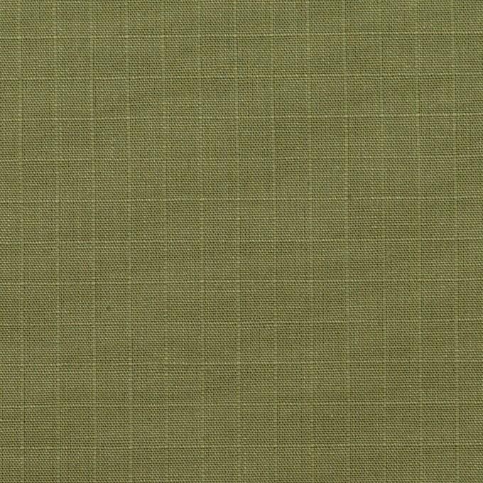 コットン&リネン×無地(カーキグリーン)×リップストップ イメージ1