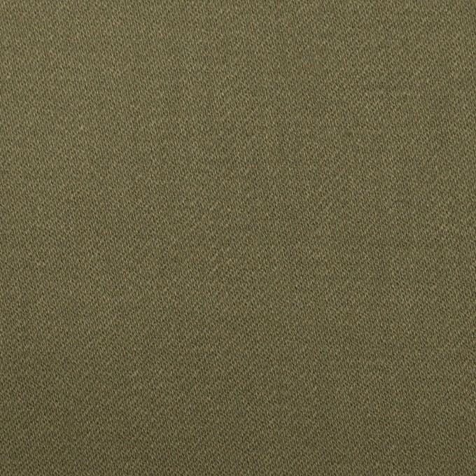 コットン×無地(アッシュカーキグリーン)×サテン イメージ1