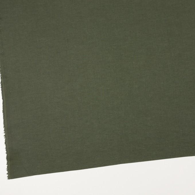 コットン×無地(モスグリーン)×ボイル イメージ2