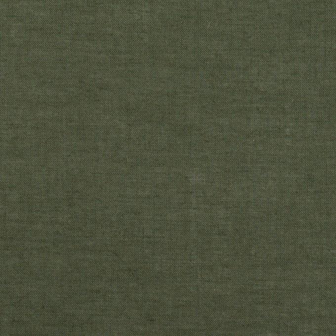 コットン×無地(モスグリーン)×ボイル イメージ1