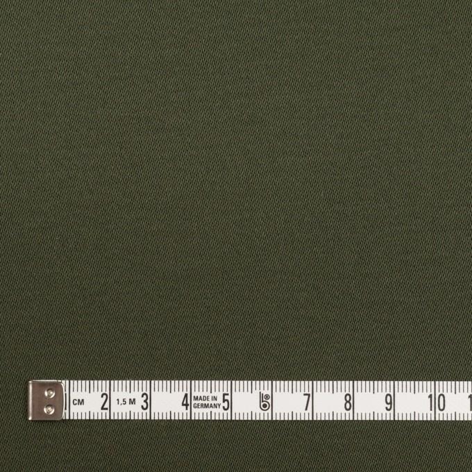 コットン&ポリウレタン×無地(ディープグリーン)×サテンストレッチ イメージ4